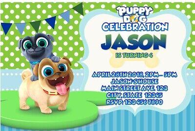 puppy dog pals birthday party invitation printable ebay