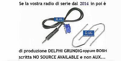 Kit aux cable fiat 500 from 2014 onwards radio Bosch