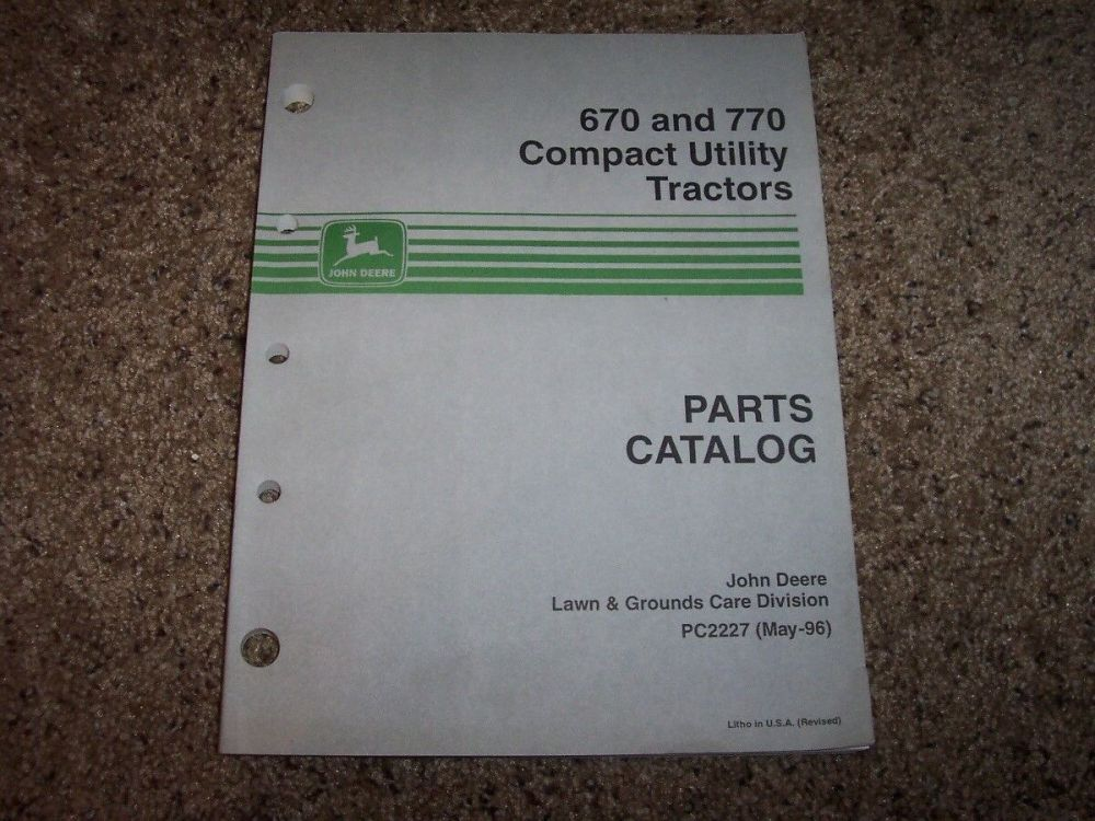 medium resolution of  diagram on john deere 670 770 compact utility tractor parts catalog pc2227 for on john deere 4400 wiring