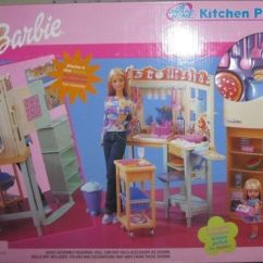 Barbie Kitchen Playset Cabinet Doors Only All Around Home Nrfb Dated 2000 Ebay