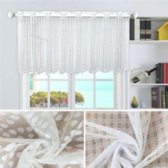 Elegant Kitchen Curtains Valances Showrooms Uk Floral Valance Short Sheer Window Image Is Loading