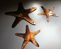 Starfish Trio Aquatic WALL ART DECOR copper/bronze plated ...