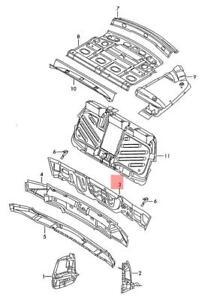Genuine Reinforcement For Cross Panel VW SKODA Passat