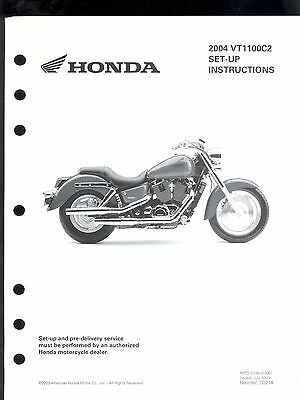 2004 HONDA VT1100C2 MOTORCYCLE SET UP & PRE-DELIVERY