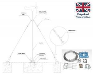 Wind Turbine Generator Mast Kit Pole Mounting Guy Lines