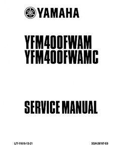 Yamaha ATV service workshop manual 2000 Kodiak 400