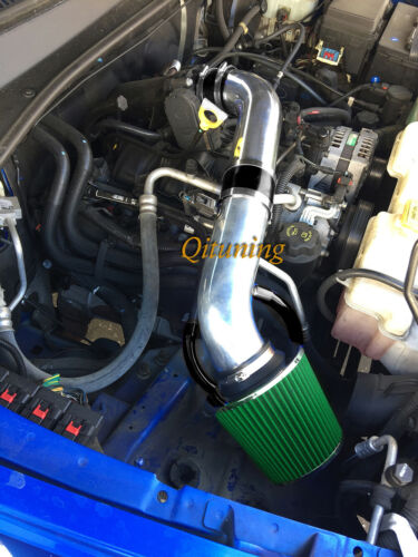 auto performance induction black green 2pc air intake system kit filter for 2007 2009 dodge nitro 3 7l v6 auto performance cold air intake