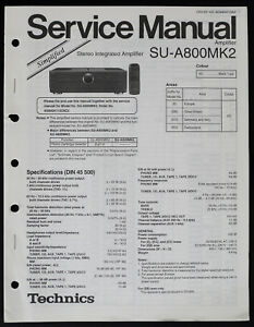 Technics SU-A800MK2 Original Simplified Service Manual