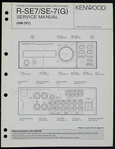 Kenwood R-SE7 SE-7 Original Amplifier/Tuner Service Manual