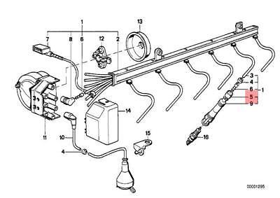 Genuine BMW E31 Ignition Wiring/Spark Plug Insulation