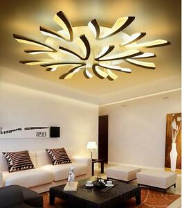 led ceiling light living room corner shelves furniture modern acrylic chandelier lights bedroom image is loading