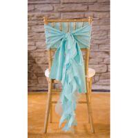 Tiffany Blue Organza Chair Sash - Hot Girls Wallpaper
