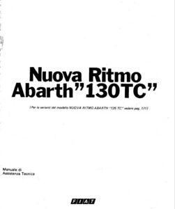 FIAT RITMO 130 TC NUOVA 130TC ABARTH MANUALE OFFICINA