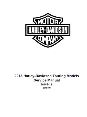 2013 Harley Davidson Road King CVO FLHRSE5 Service Shop