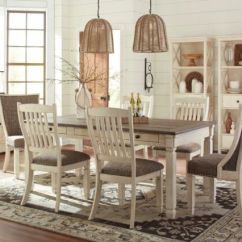Farmhouse Table And Chairs With Bench Wicker Dining Ashley Furniture Bolanburg 7 Piece Set D647