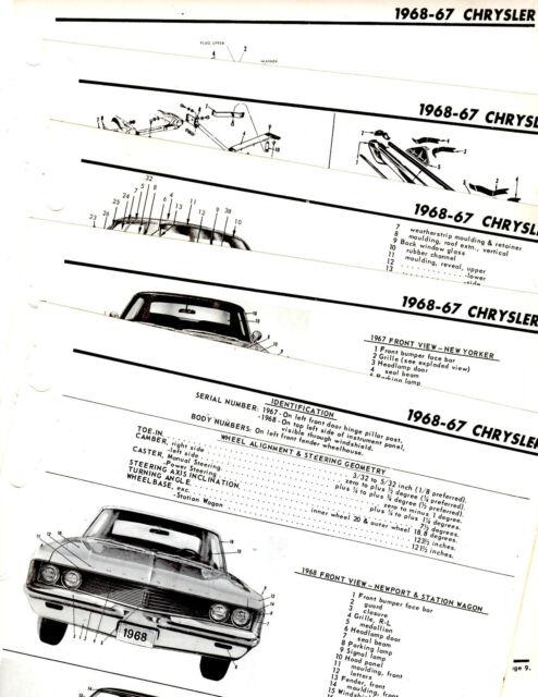 1967 1968 CHRYSLER NEWPORT NEW YORKER BODY FRAME MOTOR'S