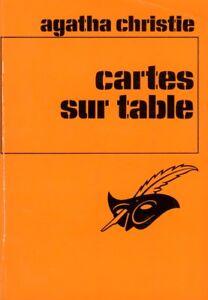 Cartes Sur Table Agatha Christie : cartes, table, agatha, christie, Cartes, Table, Agatha, CHRISTIE, Policier, Enquête, Masque