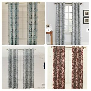 details about the big one room darkening 2 pack grommet top window curtains 80 x 84