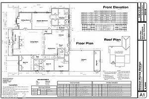 CAD DWG, and PDF files for Custom Home House Plan 3,090 SF