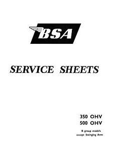 (0406) BSA B Group rigid & plunger frame models Service