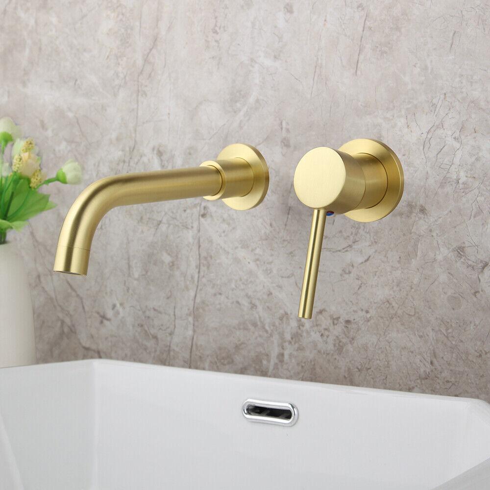 brushed gold bathroom basin vintage