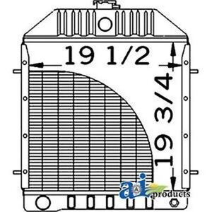 D81055 Radiator Fits Case-IH 480D 480LL 580D 580SD 584D