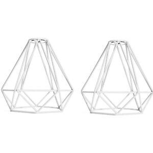 2-Pack Retro Wire Diamond Pendant Lounge Ceiling Light