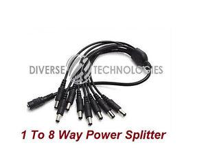 DC 8 Way CCTV Power Splitter for Security Cameras (2