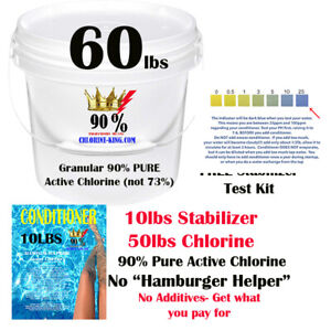 60lbs Swimming Pool Chlorine/Conditioner 90% Active ...