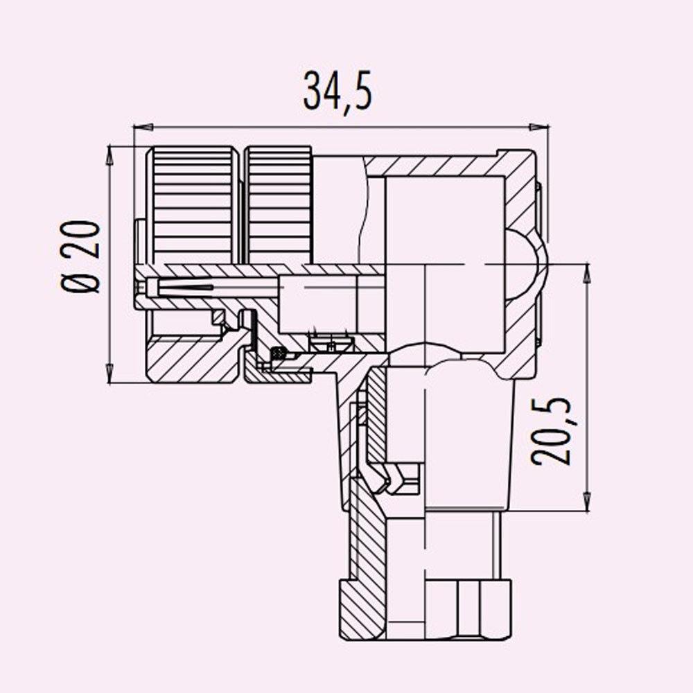 4/5/8Pin PG7 M12 Male Female Sensor Connectors Straight