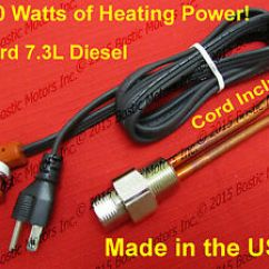 7 3 Powerstroke Ceiling Fan Light Kit Switch Wiring Diagram 1500w Ford L Engine Block Heater Diesel Super Image Is Loading
