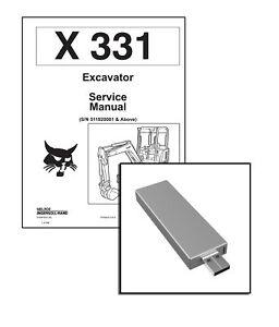 Bobcat X 331 Excavator Workshop Service Repair Manual USB