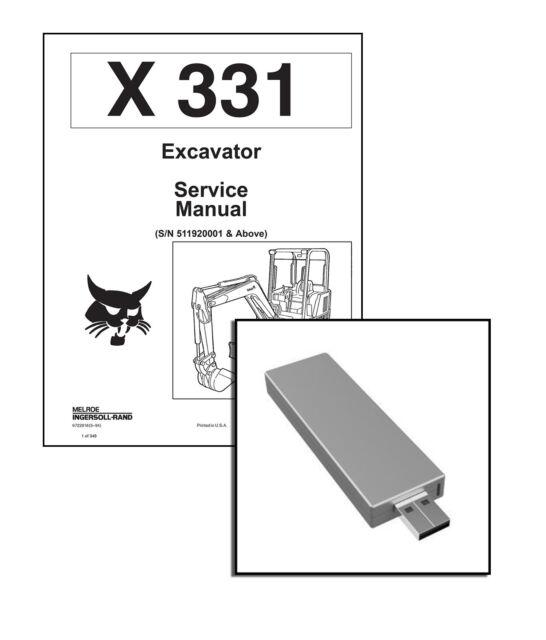 Bobcat 331 Compact Excavator Service Manual Shop Repair