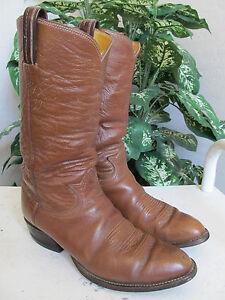 2510585c4a7 Cozy Tony Lama Cowboy Western Boots Brown Usa Mens 8d Vintage ...