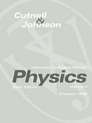 Instructor's Solutions Manual To Accompany Physics