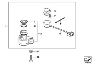Steering Lock Housing, 51252345743, Bmw, F650CS, F650GS