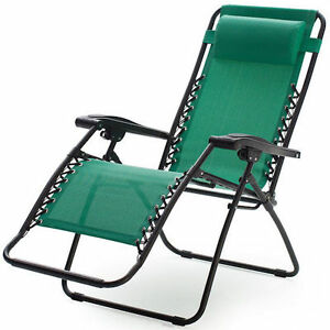 recliner lawn chairs folding chair covers for sale amazon green zero gravity outdoor patio pool image is loading
