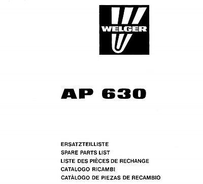 Welger AP630 Baler Parts Manual (PDF file) SPARE PARTS