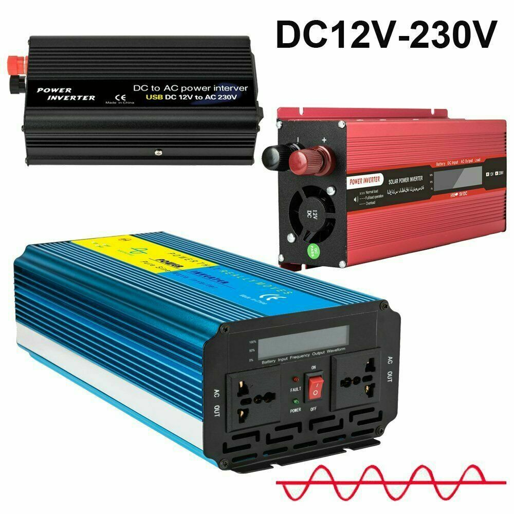Spannungswandler 12V 6000W Stromwandler Solar Inverter Wechselrichter USB Port
