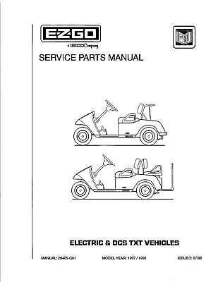 1997 E-Z-GO Gas & Electric TXT Vehicles Golf Car Service