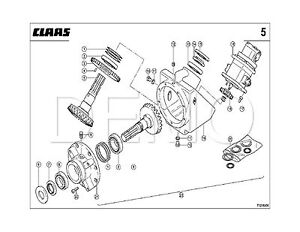 Claas Quadrant 1200 Spare Parts Catalogue, Original Manual