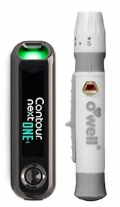 Contour Next Blood Glucose ONE Meter + O'WELL Lancing ...
