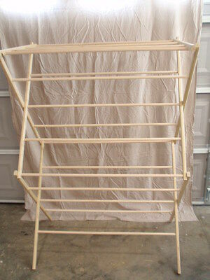 large clothes drying rack 50 feet of drying space large wooden clothes rack ebay