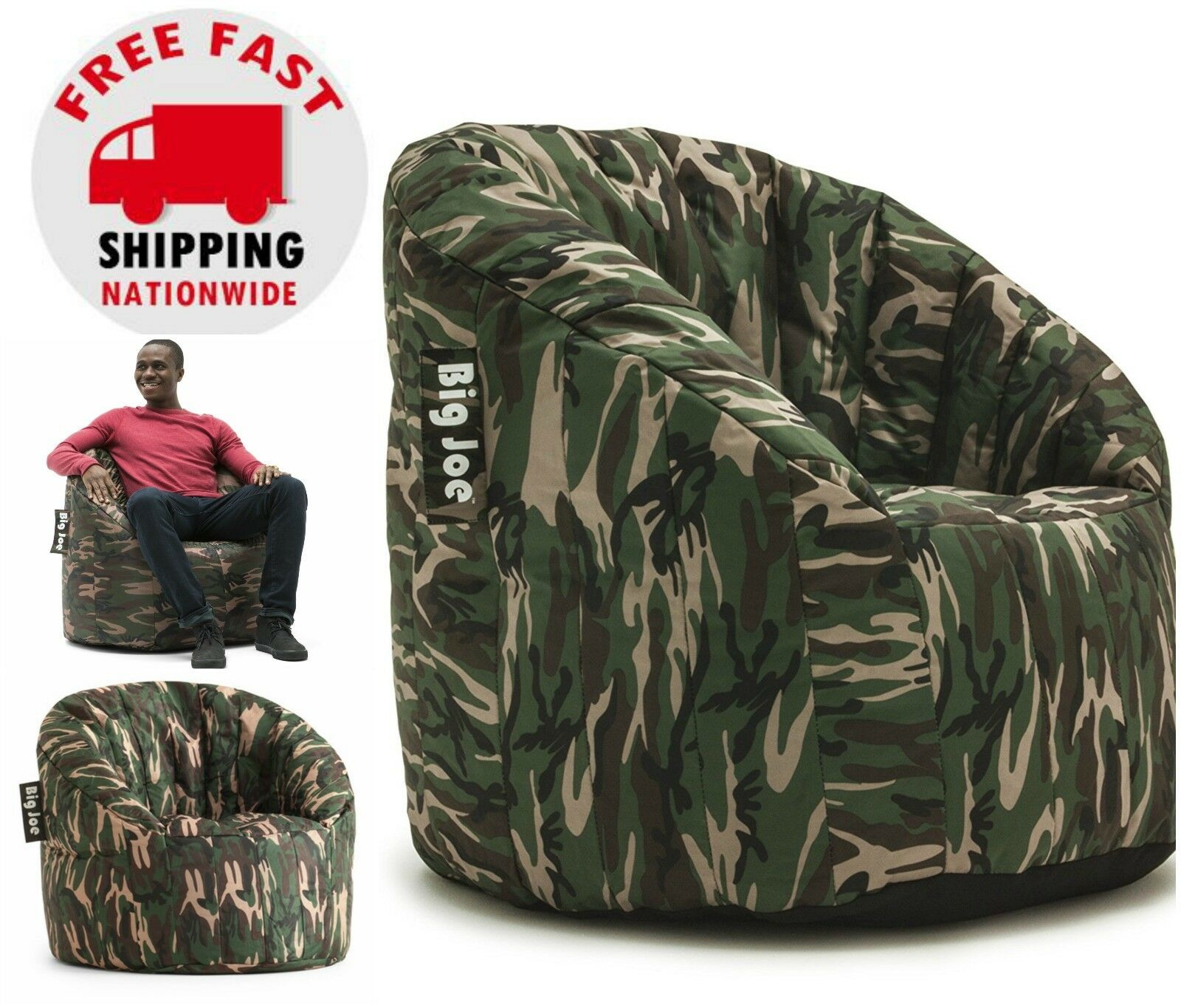 Dorm Room Chairs Big Joe Milano Bean Bag Chair Camo College Dorm Room Kids Video Gaming Tv Lounge