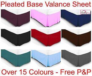 Luxury Plain Dyed Poly Cotton Platform Base Valance Box