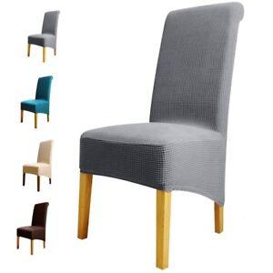 chair covers long back desk executive 1pc dining cover soft elastic kitchen slipcover xl size la foto se esta cargando silla de comedor cubierta suave elastico cocina