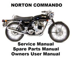 NORTON COMMANDO 750 850 Owners Workshop Service Repair