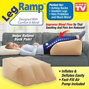 details about leg ramp as seen on tv inflatable wedge pillow leg pillow and leg rest new