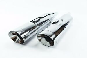 details about monster slip on mufflers harley davidson oval exhaust pipes touring glide