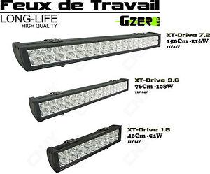 PHARE FEUX DE TRAVAIL PROJECTEUR LED 12V RAMPE D'ECLAIRAGE